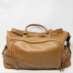 Madison West Light Brown Large Crossbody Bag